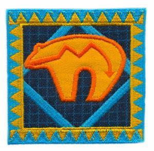 Navajo Rug, Zuni Bear Design Applique