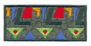 Modern Mayan Rug Applique