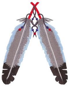 Indian Feathers (Square Hoop)