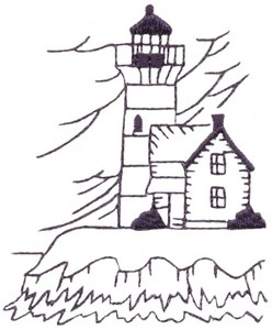 Cliffside Lighthouse (single colour)