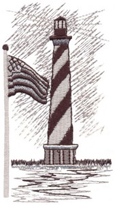 Cape Hatteras with USA Flag