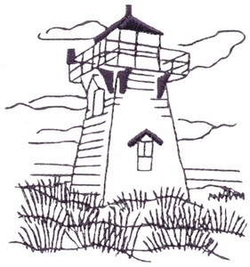 Maritime Lighthouse (single colour)