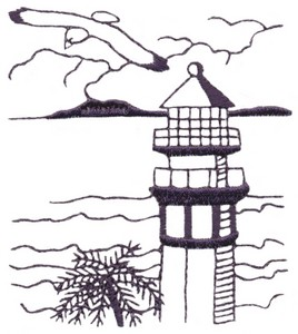 Tropical Lighthouse (single colour)