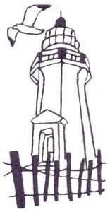 Sandbank Lighthouse (single colour)