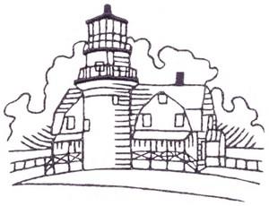 Martha's Vinyard Lighthouse (single colour)