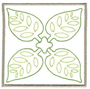 Leaf Quilt Square