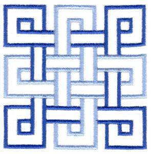 Celtic Square Knot Quilt Square