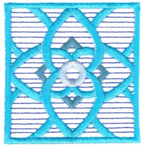 Etched Glass Flower Quilt Square