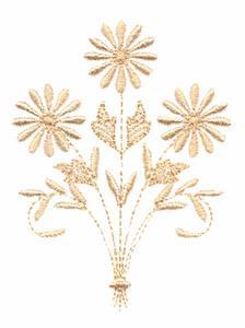 Three Flower Bouquet (Whitework)