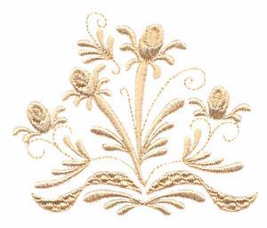 Rosebuds and Ribbons Quad (Whitework)