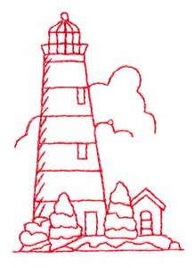 Lighthouse (Redwork)
