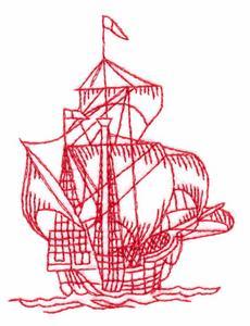 Galleon (Redwork)