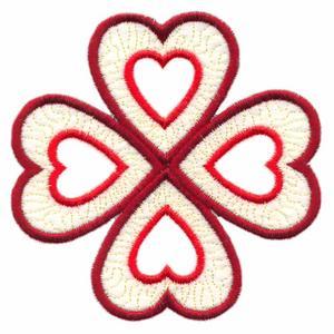 Four Hearts ( Trapunto )
