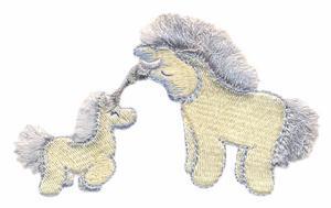 Fringed Unicorn Pair
