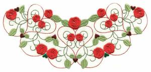 Jewelled Hearts and Roses Collar