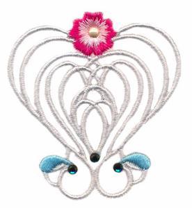Jewelled Ribbon Heart