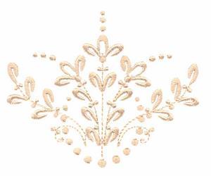 Floral Fan (Whitework)