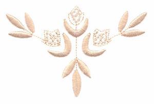 Three Flower Sprig (Whitework)