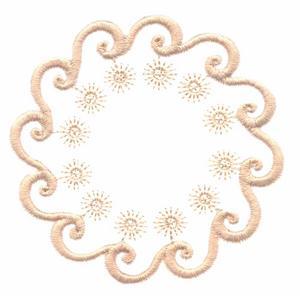 Stars and Swirls (Whitework)