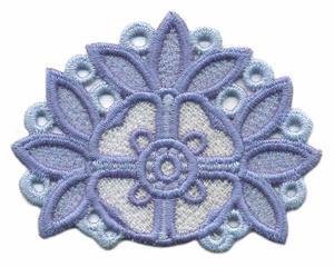 FSL - Leaf Bordered Flower ( Lace )