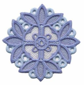 FSL - Leaf Bordered Flower Circle ( Lace )
