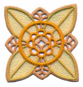 FSL - Four Petaled Flower ( Lace )
