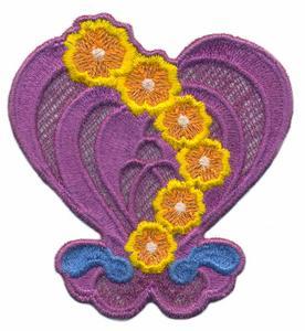 FSL - Waterdrop Flower Heart ( Lace )
