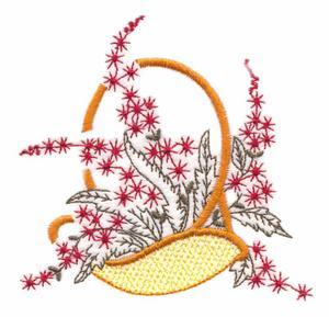 Trapunto Flower Basket
