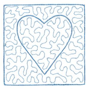 Full Stippled Heart ( Quilting )