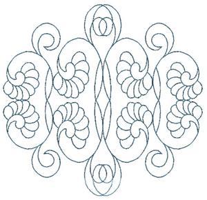 Intertwined Curls & Loops (Square Hoop)