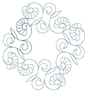 Floral Wreath (Square Hoop)