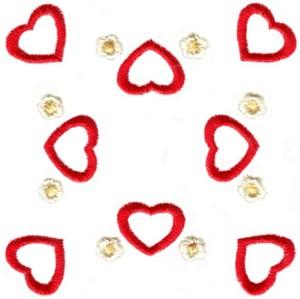 Hearts & Flowers Linen Set ( large heart square )