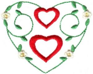 Hearts & Flowers Linen Set ( large heart vine )
