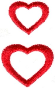 Hearts & Flowers Linen Set ( large double hearts )