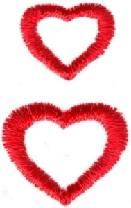 Hearts & Flowers Linen Set ( small double hearts )