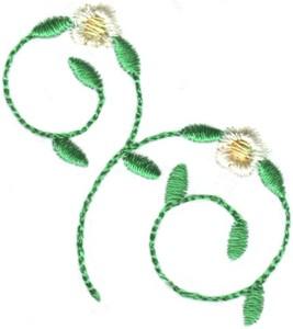 Hearts & Flowers Linen Set ( small floral vine )