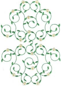 Hearts & Flowers Linen Set ( large floral vine )