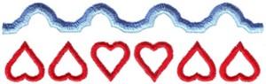 Hearts & Flowers Linen Set ( large heart border )