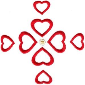 Hearts & Flowers Linen Set ( small heart cross )