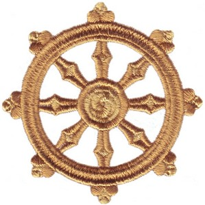 Buddhism Symbol ( Dharma Wheel )