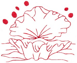 Clam Shell (Redwork)