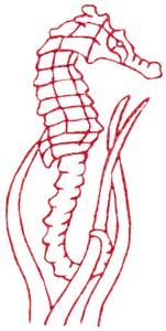 Sea Horse (Redwork)