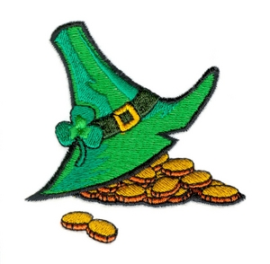 Irish Hat and Gold Coins