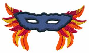 Mardi Gras Mask & Feathers (Applique)