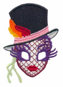 Mardi Gras Top Hat Mask