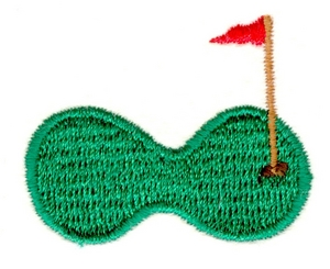 Golf hole with flag
