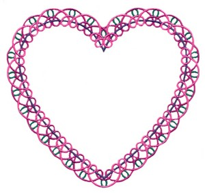 Lace Heart #2 (Square Hoop)