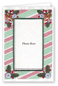 Candy Cane Stripes - Photo Greeting Card