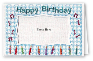 Happy Birthday Candles - Photo Greeting Card