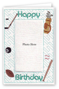 Happy Birthday Sports - Photo Greeting Card